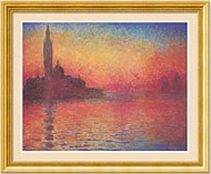 Sunset in Venice, Claude Monet