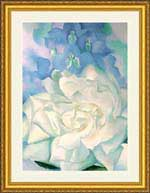 Georgia O'Keeffe - White Rose with Larkspur