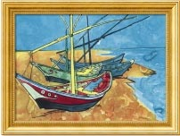 Boats, by Vincent van Gogh